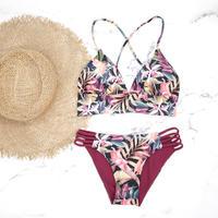 【予約販売】A-string reversible long under bikini Calm tropical
