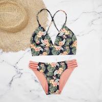 即納 A-string reversible long under bikini Natural orange