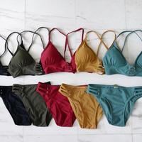 再販 即納 5color A-string solid design bikini