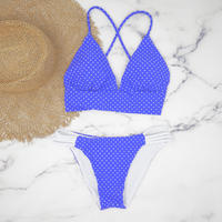 即納 A-string reversible long under bikini Blue dot