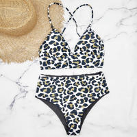 即納 A-string high waist long under bikini Leopard