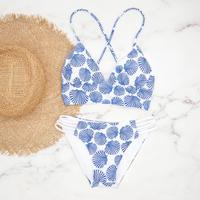 即納 A-string reversible long under bikini Blue shell