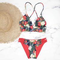 即納 A-string reversible long under bikini Red back