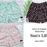 即納 Men's beach short pants Flamingo