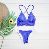即納 A-string reversible long under bikini Blue dot