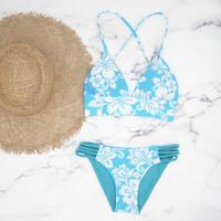即納 A-string reversible long under bikini Turquoise
