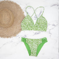 即納 A-string reversible long under bikini Natural green