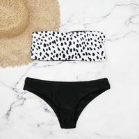即納 Tube top reversible desing bikini Dalmatian