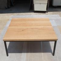 センターローテーブル無垢材オーク材アイアン脚