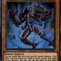 英語版 LED5-EN014 Evil HERO Sinister Necrom E-HERO シニスター・ネクロム (ウルトラレア) 1st Edition