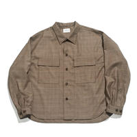CPO shirt jacket - Wool check / Brown