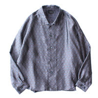 Big shirt jacket - Flower jacquard