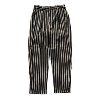 Utility trouser  - Sateen stripe / Black x camel