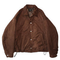 Padding coach jacket - Fake suede / Brown