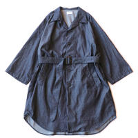 Belted shop coat - 7oz tencel denim / Indigo