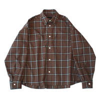 Big regular shirt - Multi check / Russet