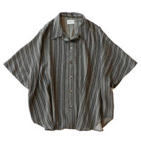 Short sleeve dolman shirt - Jacquard / Gray stripe