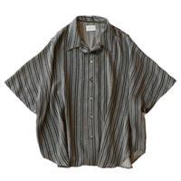 Short sleeve dolman shirt - Jacquard / Gray stripe