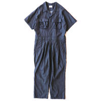 Short sleeve jump suits - 7oz tencel denim / Indigo