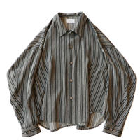 Big shirt Jacket - Jacquard / Gray stripe