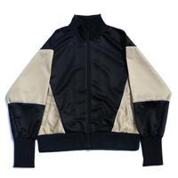 Dolman track jacket / Black x Beige