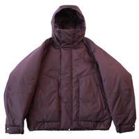 Balloon parka jacket - Stretch gabardine / Burgundy