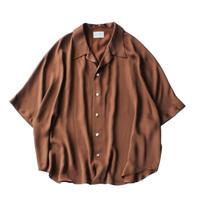 Short sleeve dolman shirt - Sateen / Brown