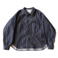 Big shirt Jacket 弐 - 9oz tencel denim / Indigo