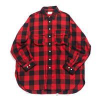 king size shirt 弐 - CTW twill / Buffalo check