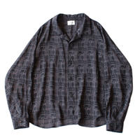 Big shirt jacket - Jacquard / Block