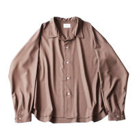 Big shirt  - Gabardine / Brown