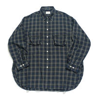 king size shirt 弐 - CTW twill / Navy check