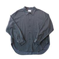 Regular fit big shirt - Herringbone jersey / Gray
