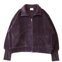 Knit track jacket - Mole yarn / Purple