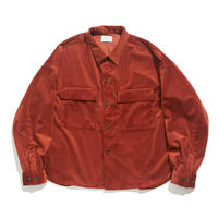 CPO shirt jacket - Velour twill / Orange