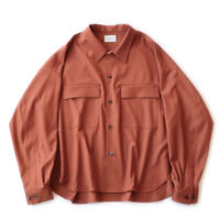CPO shirt Jacket - Gabardine / Orange