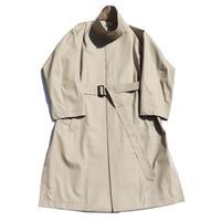 Stand collar coat - Cotton twill with LANTIKI OSAKA