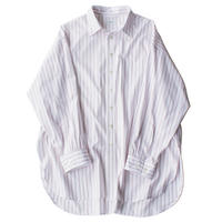 King size shirt - Pencil Stripe / White x Red