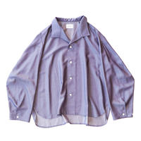 Medical shirt - Rayon chambray / Purple