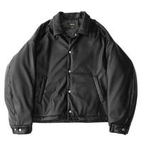 Padding coach jacket - Fake leather / Black