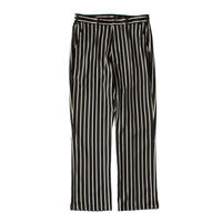 Zip track trouser - Sateen stripe / Black x camel