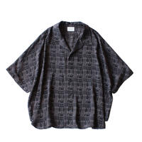 Short sleeve dolman shirt - Jacquard / Block
