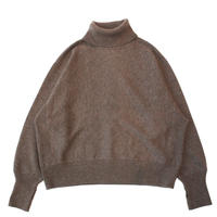 Turtle neck knit sweater - Lamb's wool / Mocha