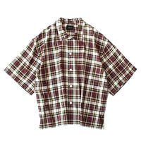 Square bottom S/S shirt - Check / Enji