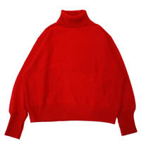 Turtle neck knit sweater - Lamb's wool / Red