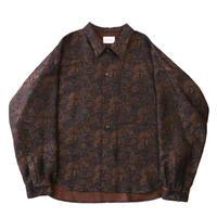 Big shirt jacket 壱 - Paisley jacquard
