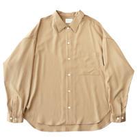Regular fit big shirt - Rayon poly gabardine / Beige