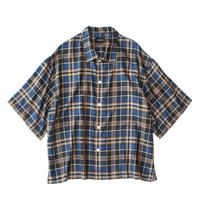 Square bottom S/S shirt - Check / Blue