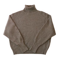 Turtle knit sweater / Brown
