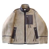 Retro pile fly jacket / Beige